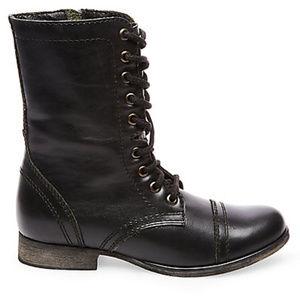 Steve Madden Black Troopa Combat Boots